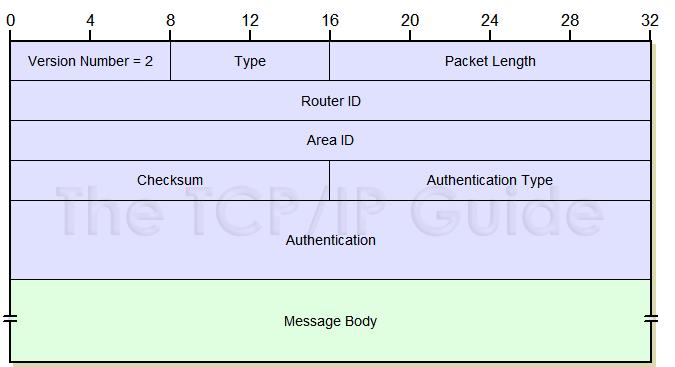 OSPF Header - بسته های مورد استفاده در OSPF