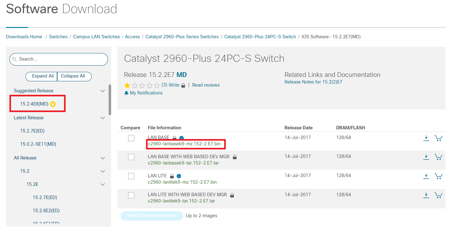 Cisco Software Download - آپدیت IOS