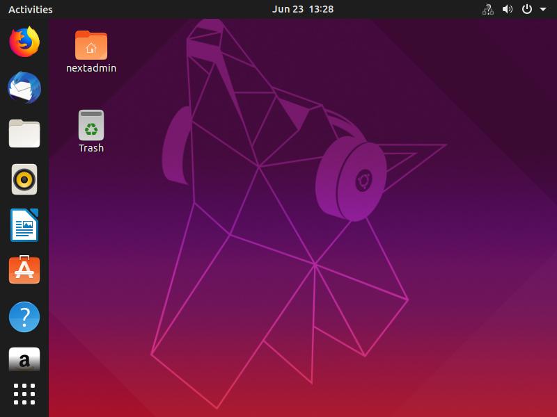 محیط سیستم عامل اوبونتو