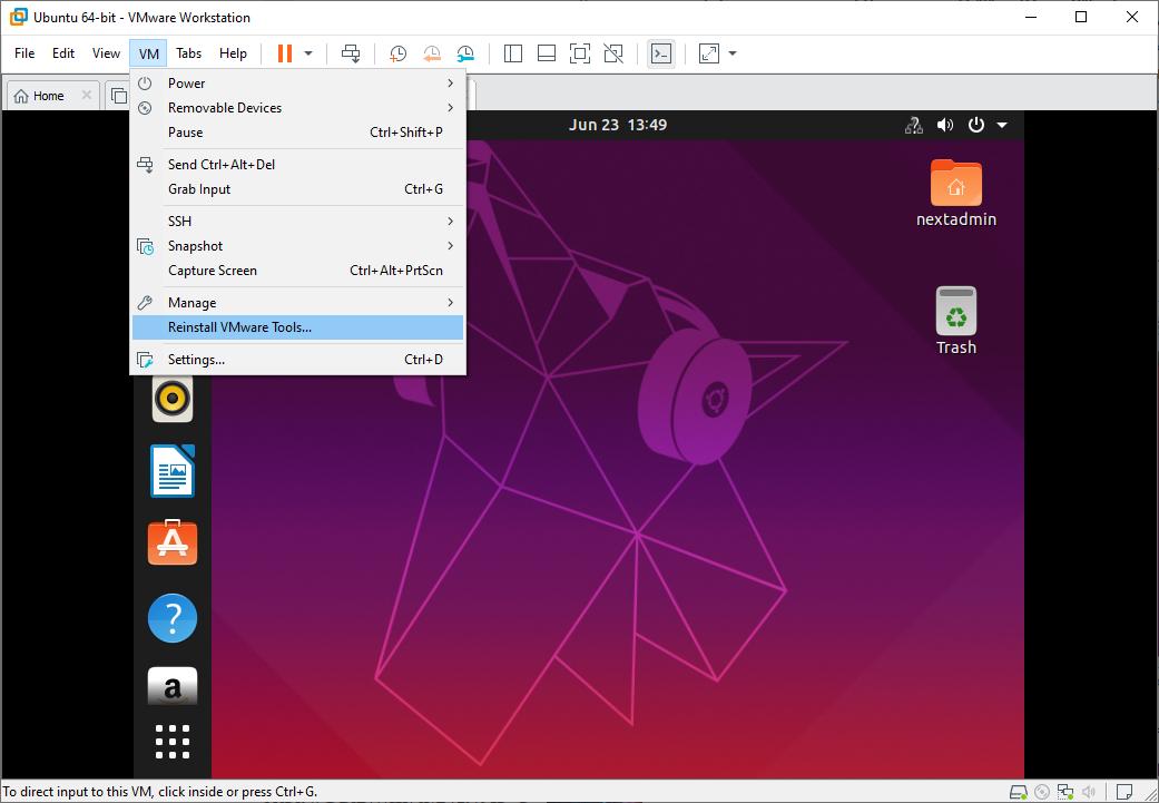 Install VMwareTools To Ubuntu