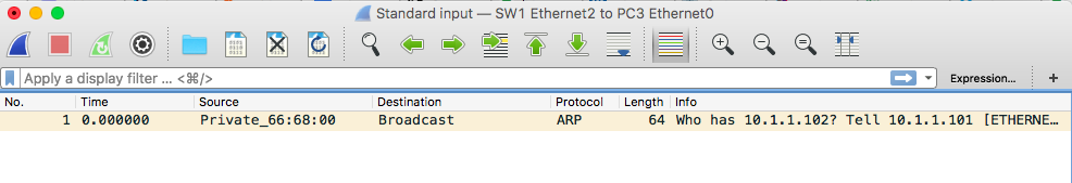 wireshark arp request