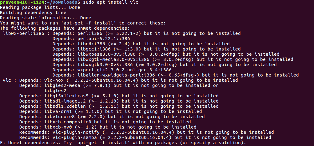 dependency های برنامه VLC - مدیریت کتابخانههای اشتراکی