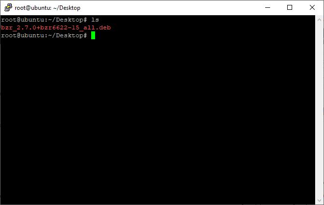 bzr_2.7.0+bzr6622-15_all | استفاده از مدیر بسته دبیان