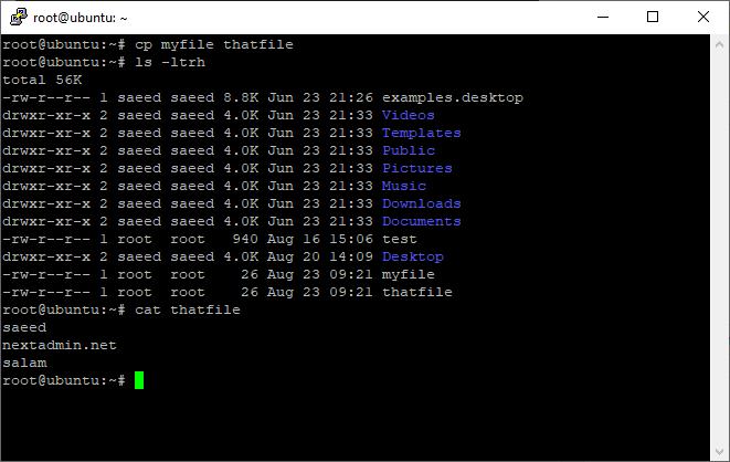 دستور cp برای کپی فایل ها و پوشه ها   آموزش لینوکس: مدیریت مقدماتی فایل ها در لینوکس (Perform basic file management)