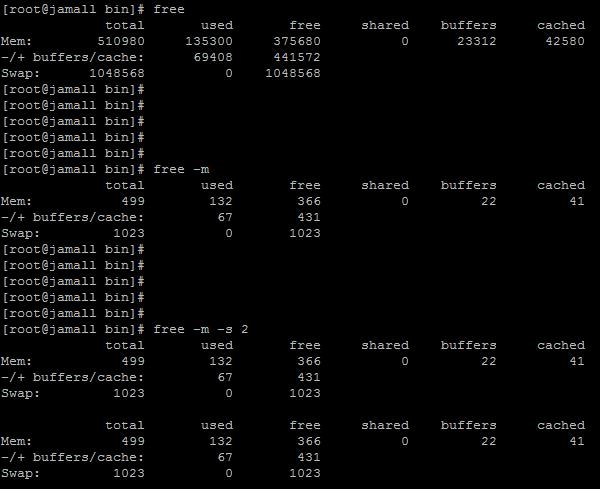 نتیجه دستور free در سرور لینوکس | ساخت، دیدهبانی و کشتن پروسهها