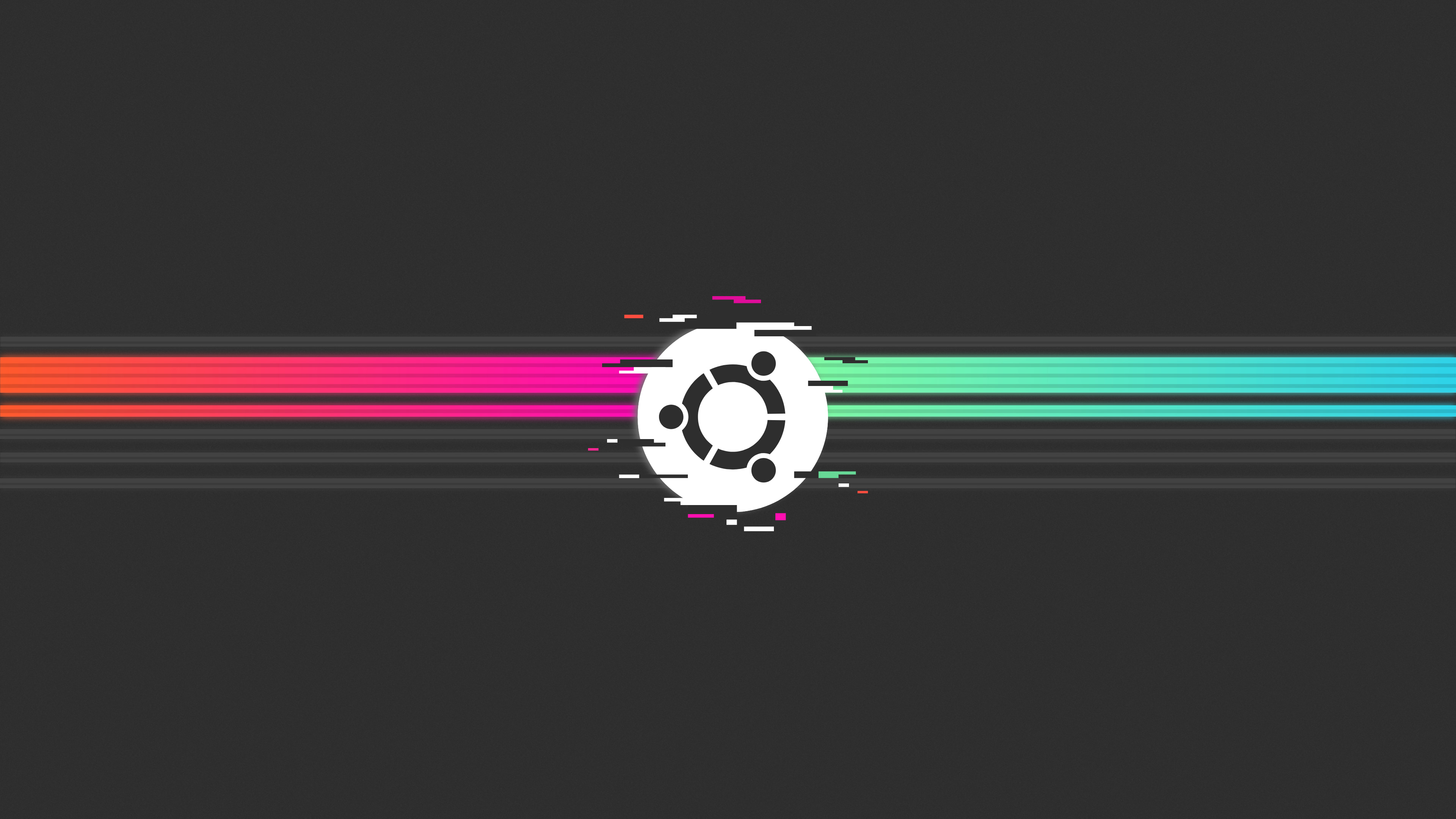 Ubuntu 80s glitch by Abubakar NK - دانلود Ubuntu 19.10 یا Eoan Ermine