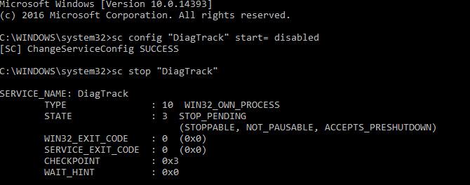 غیرفعالکردن سرویس دیاگنستیک ترکینگ (Diagnostic tracking)