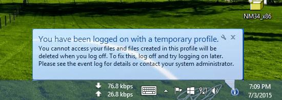 رفع مشکل Temp شدن پروفایل کاربر در سیستم عامل های ویندوزی