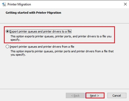 Export printer queues and drivers to a file - آموزش گرفتن بک آپ از درایور پرینتر های ویندوز 10