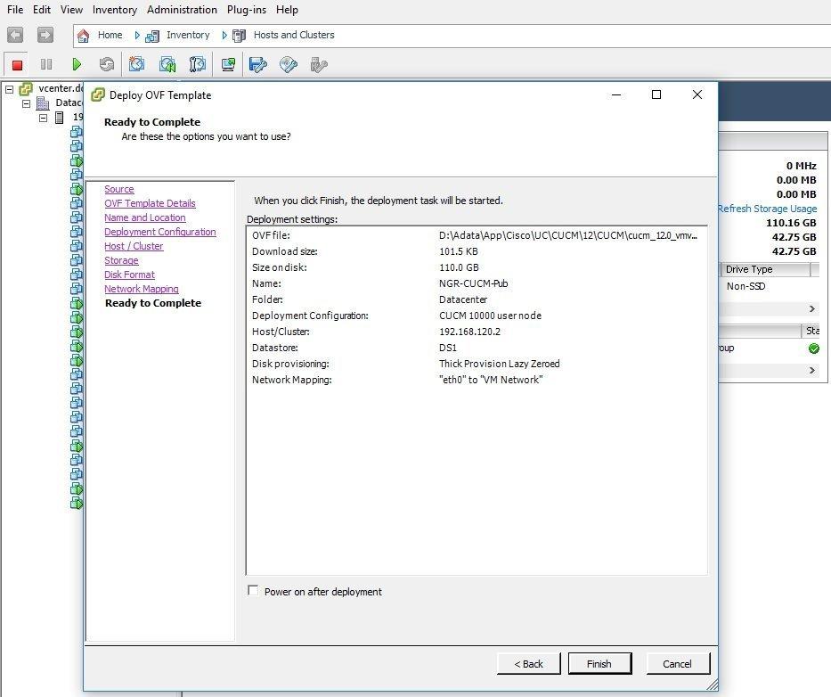مراحل Deploy کردن CUCM Virtual Template